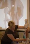 Doris Pasteleur Hall teaching Anatomy in Clay